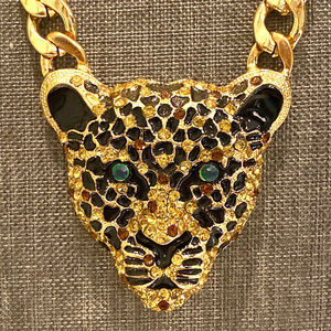 Natasha Panther Jaguar Leopard Statement Necklace